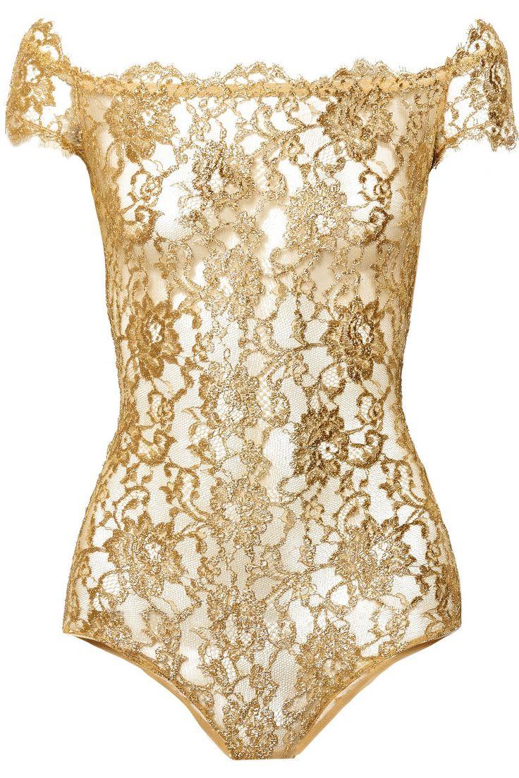 I.D. Sarrieri Rhapsody metallic lace bodysuit