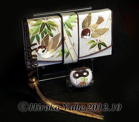 Classy sparrow embroidery hakoseko