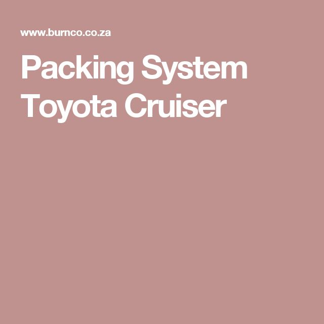 Packing System Toyota Cruiser