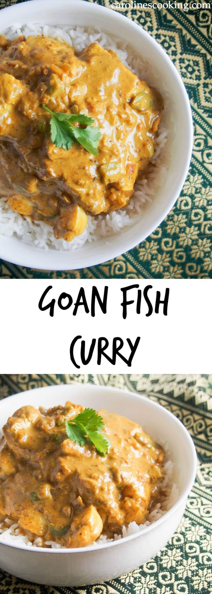 This Goan fish curry is really easy to make, packed with flavor & spice, and ready in less than 30 minutes. A delicious dish that's way better than take out.