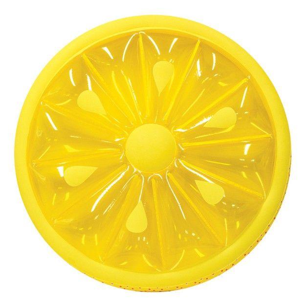 Swimline Fruit Slice Inflatable Island Lemon