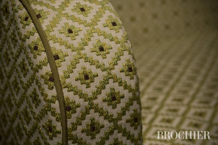 CORTE #fabric by BROCHIER Small geometric appealing, presented in bright colors and mélange. Rustic flavor, is made with 100% natural fibres. Ideal for upholstery.