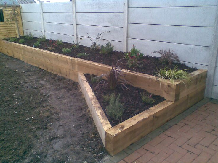 17 best images about garden ideas landscaping on pinterest for Garden decking sleepers