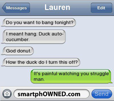 this is a hilarious smart phone owned!  :D