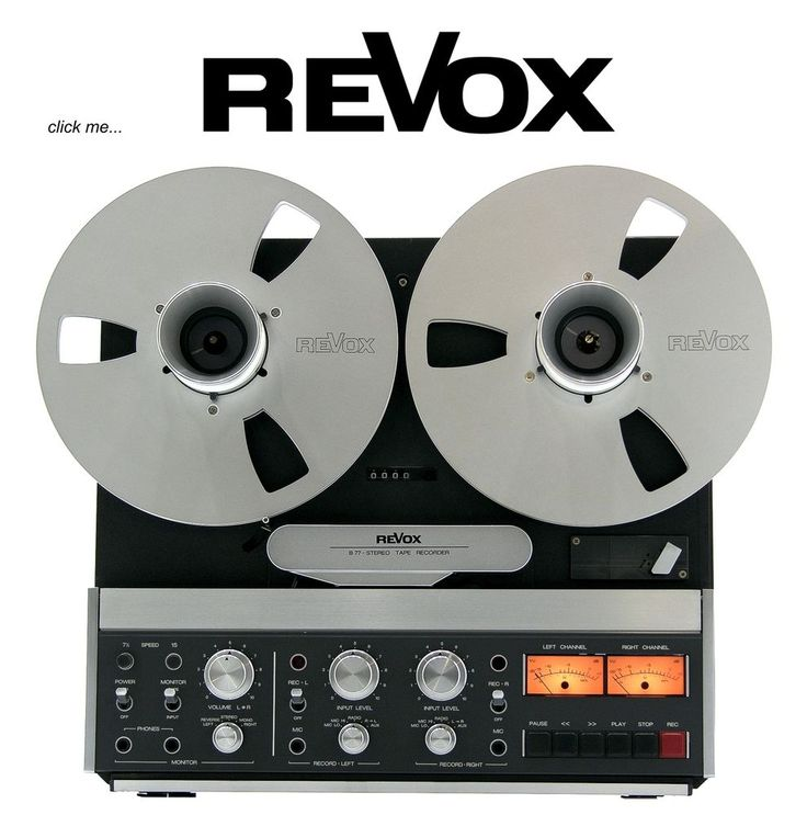 ReVox B77 2-track high speed studio mastermachine….