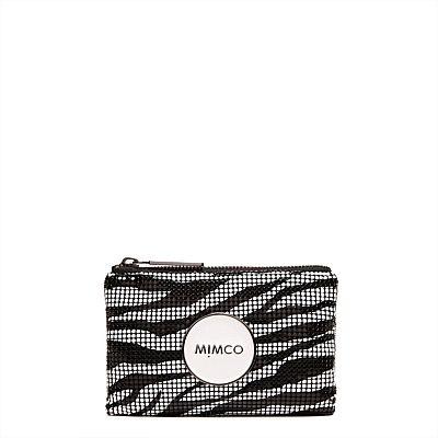 Women's Wallets, Pouches & Tech Accessories   Mimco - Zebra Mesh Mim Pouch