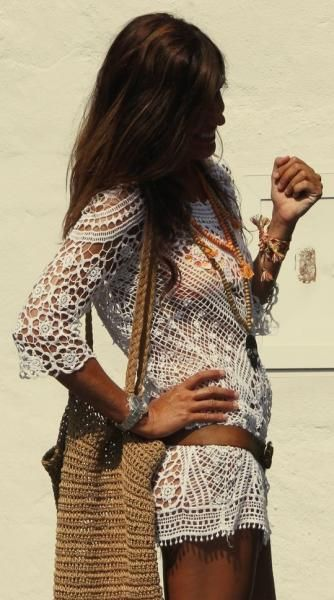 Boho crochet tunic top for some Gypsy Spirit hippie look  For the BEST Bohemian fashion trends FOLLOW https   www pinterest com happygolicky the best boho chic fashion bohemian jewelry gypsy   now