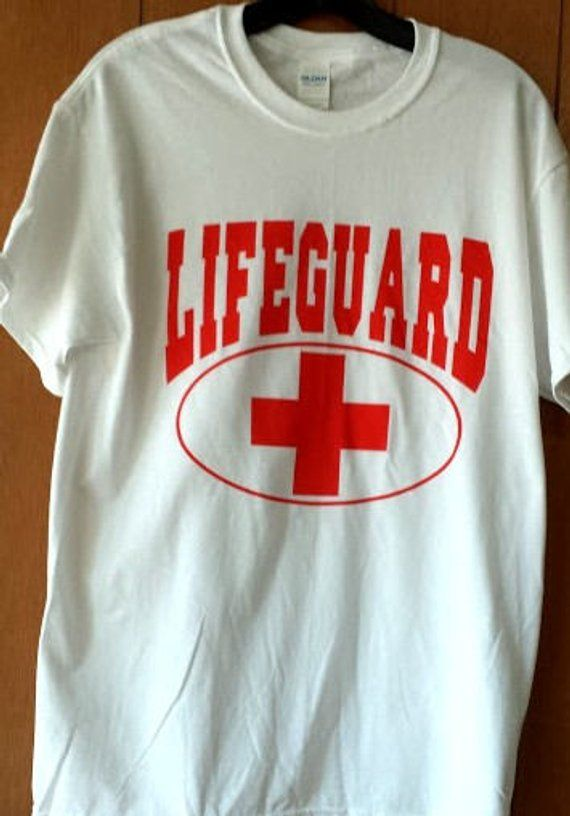8f51f9f84e15 One Dozen Custom Printed Lifeguard T-shirts Red on white 100% cotton ...