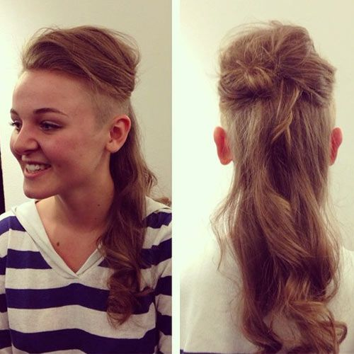 Wondrous 17 Best Images About Undercut On Pinterest Long Mohawk Side Hairstyles For Women Draintrainus
