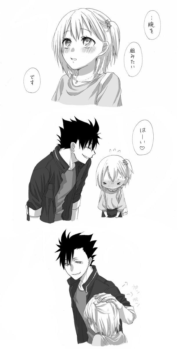 Haikyuu, Kuroo and Yachi - Aww, this is so cute~