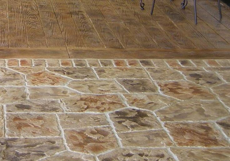 Stamped Concrete That Looks Like Wood Planks : Best images about landscaping on pinterest deck