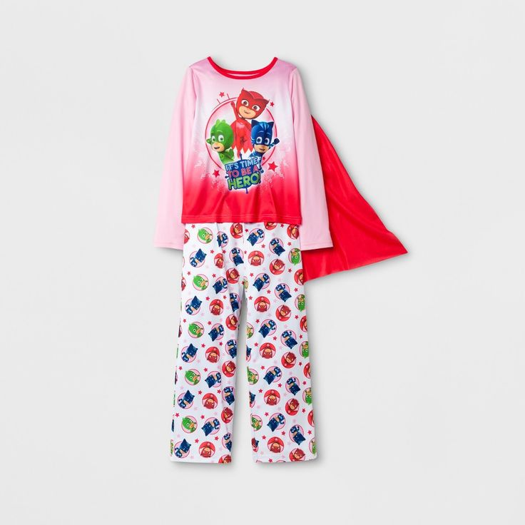 Girls' PJ Masks Pajama Set - Pink 8