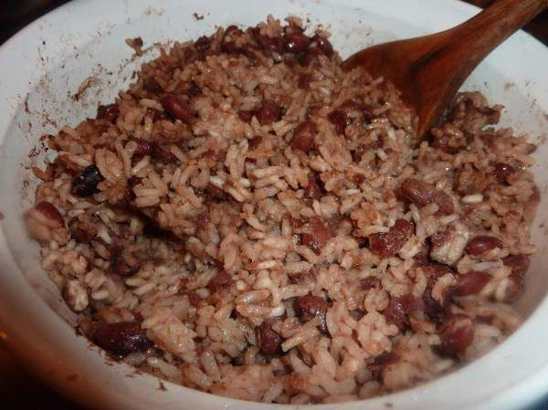There is nothing like Haitian red beans and rice - YUMMY! #reachculture #timberlinemissions