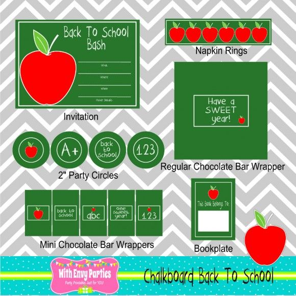 Free back to school party printables! #freeprintables #backtoschool