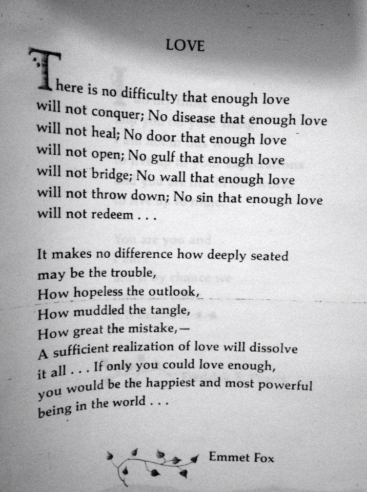 Love. Emmet Fox