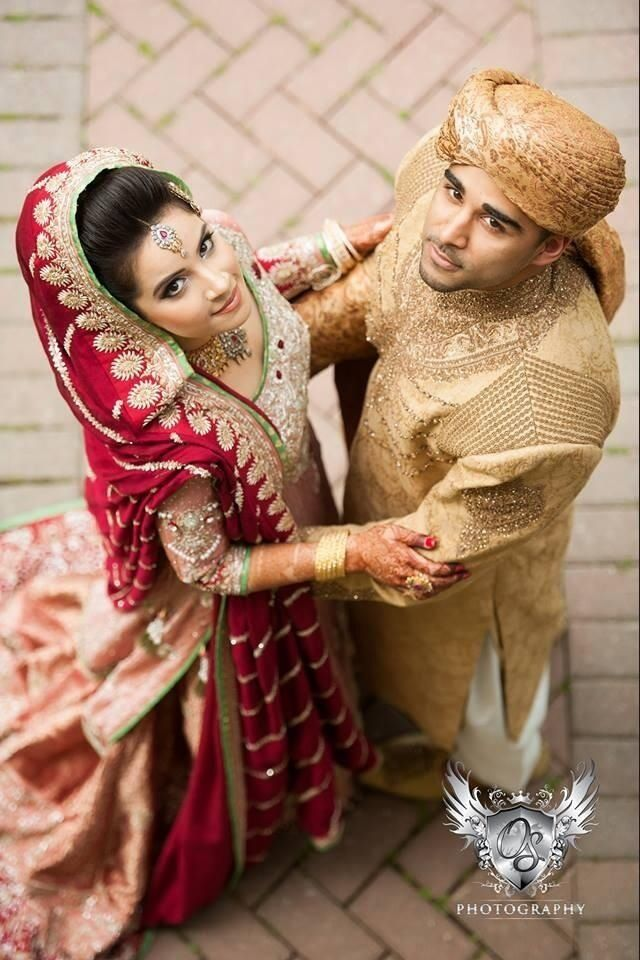Indian Bridal Couple #desi #desiwedding #indian - follow my Fashion Boards for more :-)