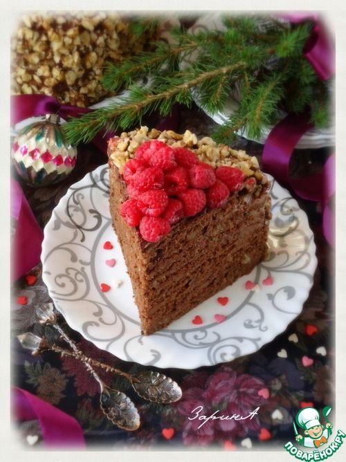 """Торт шоколадно-медовый """"Дамский каприз"""" - кулинарный рецепт"""
