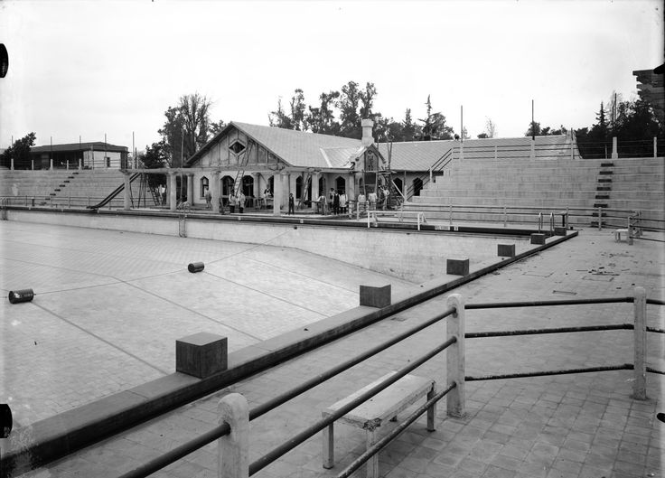 Quinta Normal, piscina Archivo Fotográfico