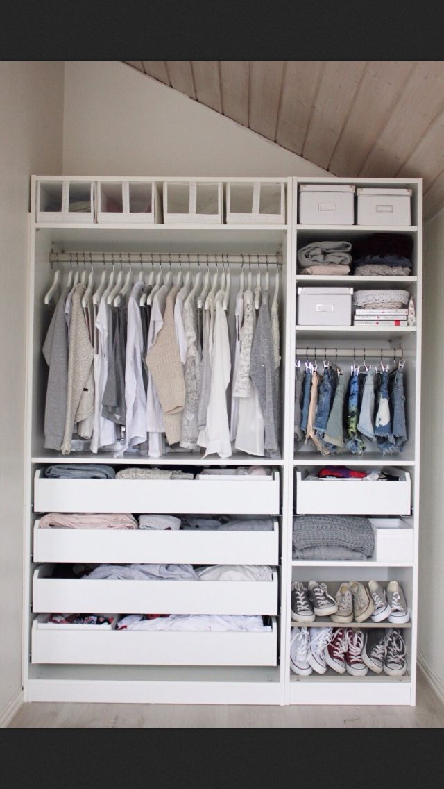 This would really work perfectly for a young child's closet because their clothes are short....Closet organization, this is almost perfect!!