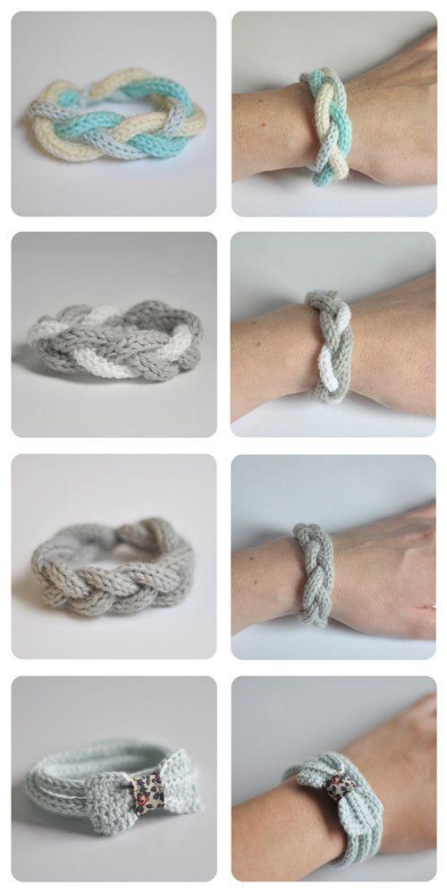 Bracelets au tricotin - www.julypouce.fr: