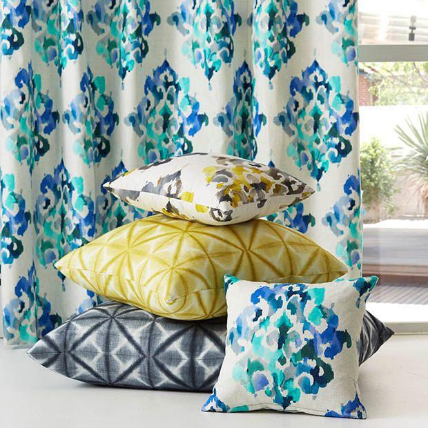 Warwick Fabrics, AKARI Collection #warwickfabrics #drapery #cushions #textiles
