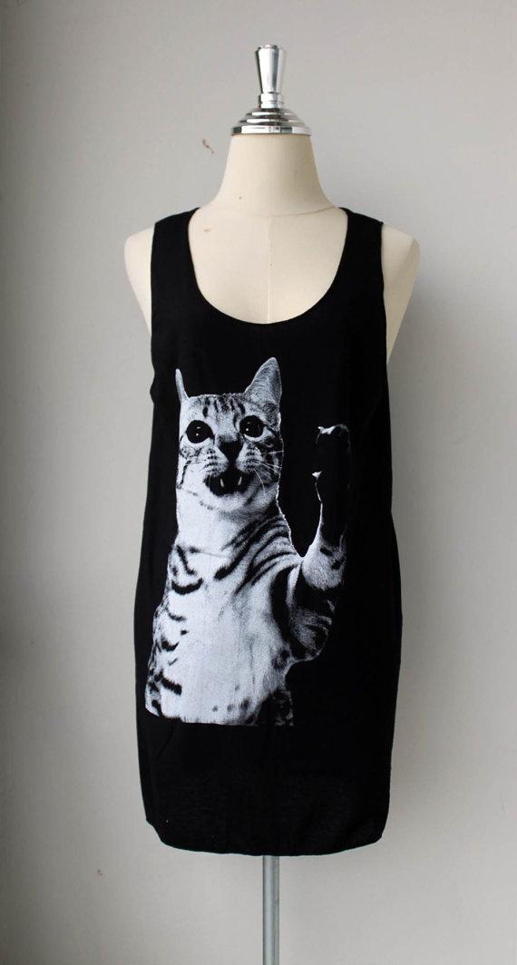 Cat  Pet Animal Black Tunic Tank Top Mini Dress Shirt by Tshirt99, $15.99Minis Dresses, Cat Pets, Black Cats, Dresses Shirts, Tunics Tanks, Black Tunics, Pets Animal, Cat Tanks, Cat Lady