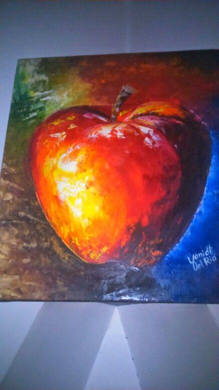Bodegon, cuadro sobre lienzo,  trabajado con espátula en óleo.