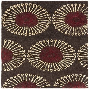 Traditional Coffee and Brown Rectangular: 2 Ft. x 3 Ft. Accent Rug