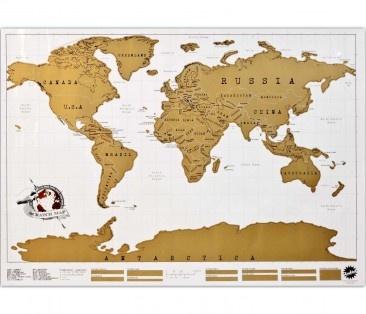 Für alle, die gerne und viel unterwegs sind. Mit der Rubbel-Weltkarte kannst du die Orte freirubbeln, die du schon besucht hast. So verlierst du nie den Überlblick, wo es als nächstes hingeht.