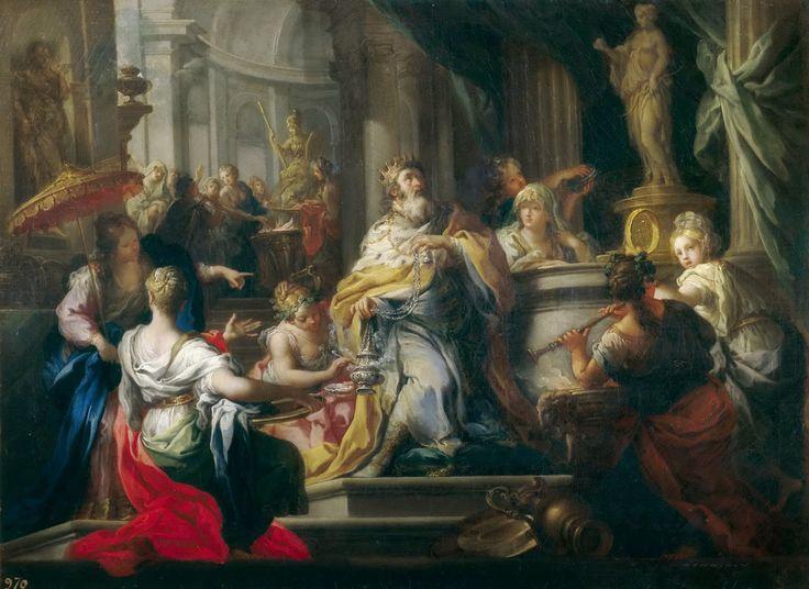 Sebastiano Conca - The Idolatry of Solomon [c.1750]  #18th #Classic #Painting #Sebastiano #Conca