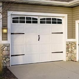 Our Big Blue House: Project #4 this summer. New Garage Door(s) These inexpensive Decorative Garage Door Hardware Kits are available at Lowe's and Home Depot about USD 20.00