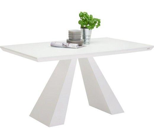 Esstisch Mit Glasplatte In Weiß   Für Ein Modernes Speisezimmer