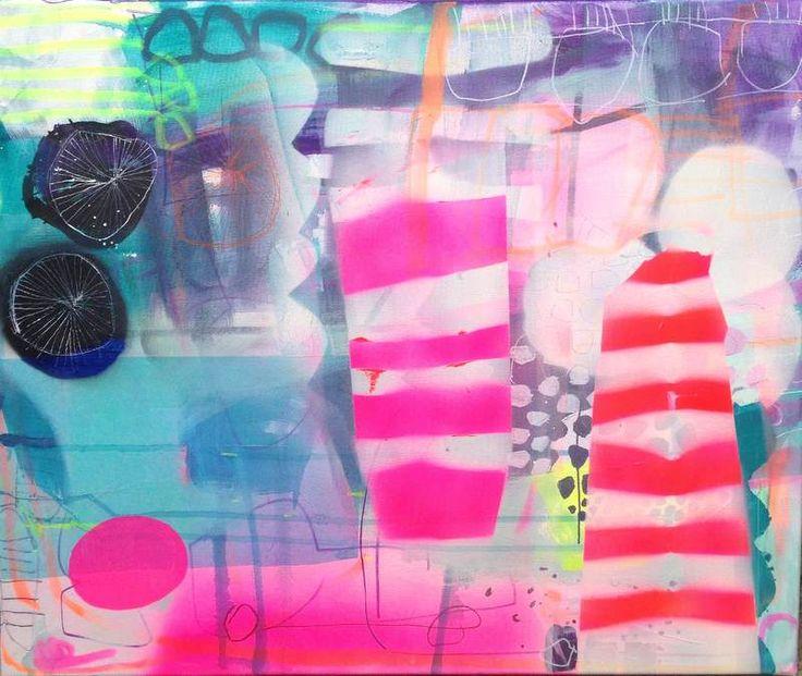 Danish artist Mette Lindberg #colorful #abstract #art