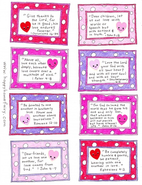 free printables- Valentine's bible verses for 14 days of sharing God's love with your kids!