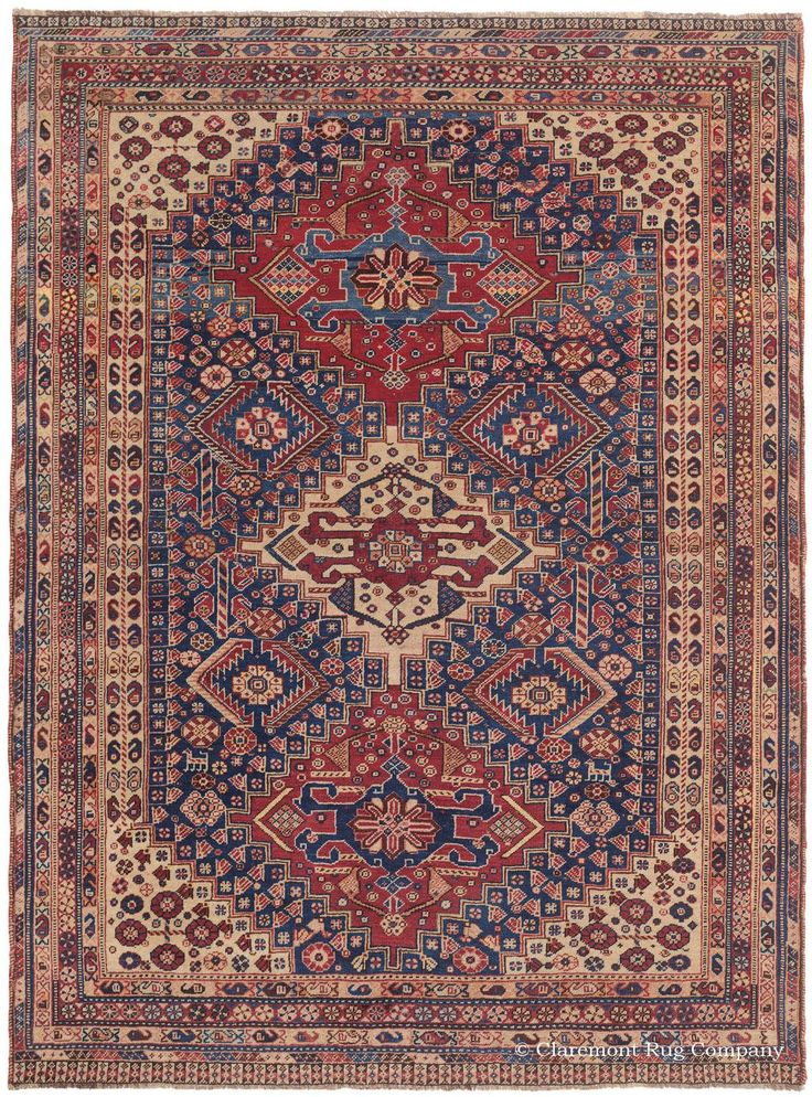 Qashqai Southwest Persian X Quarter Century This Collectible Nomadic Rug Combines An Abundance Of Individualized Detail With Overarching