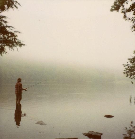 fisherman   8 x 8 polaroid photograph by BrookeSchmidt on Etsy