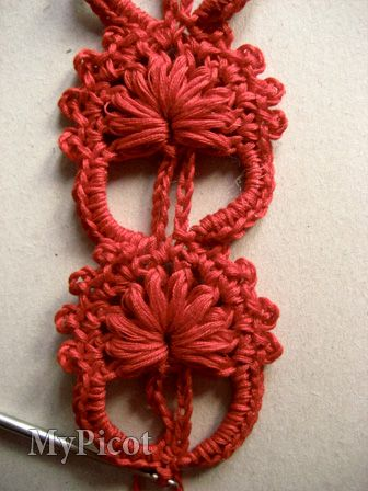 Tutorial and diagrams for this unique stitch. Would make a great bracelet!