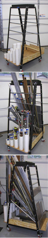 DIY workshop rack    http://bbs.homeshopmachinist.net/threads/39202-Shop-Made-Tools/page95