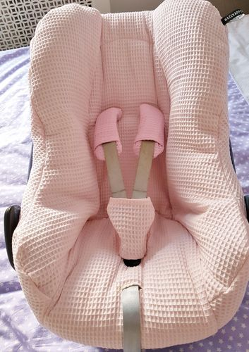 Maxi Cosi Pebble - zomerhoes - roze - wafel - lichtroze