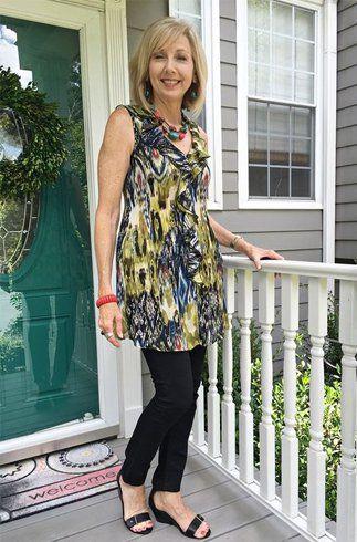 Ruffle tops fashion For Women Over 50