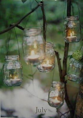 Recycling glass bottles.