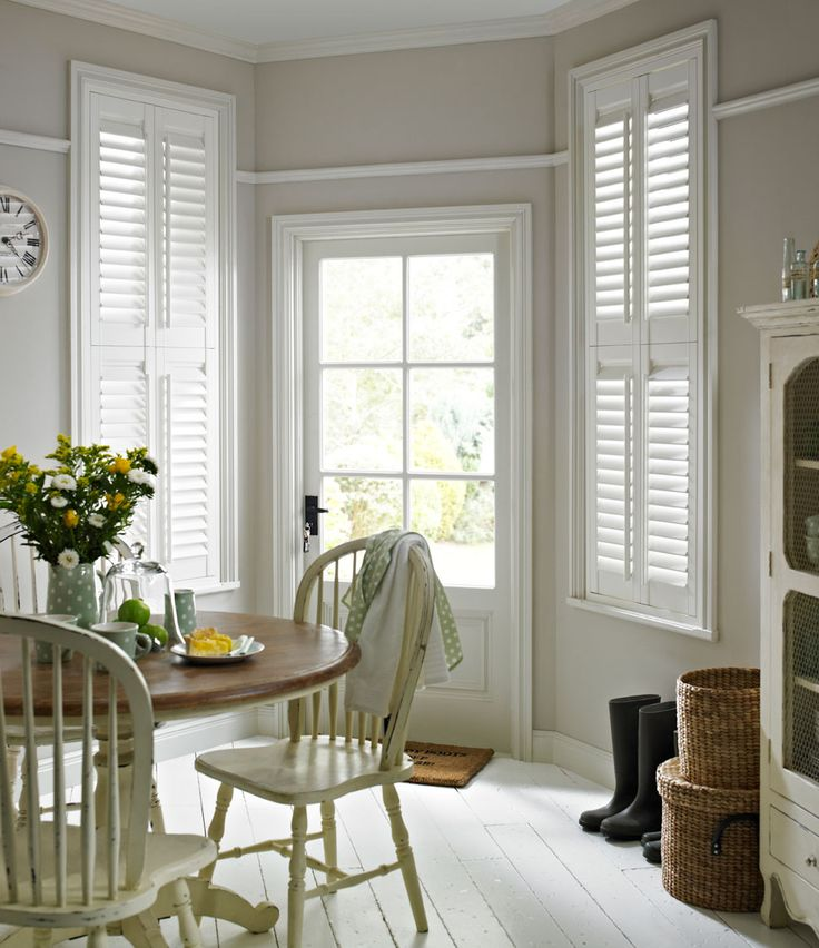Traditional Colonial Or Plantation Interior White Painted Wooden Shutters From The Laura Ashley