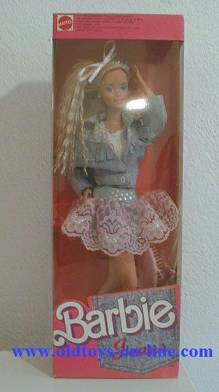 Jeans Barbie!! She was seriously my favorite! I wanted her skirt so badly. HAHA!