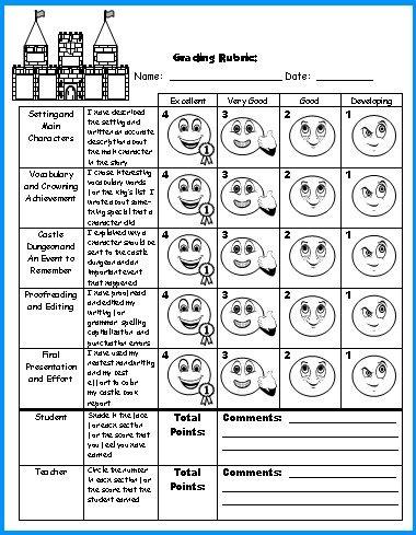 fairy tale book report worksheet