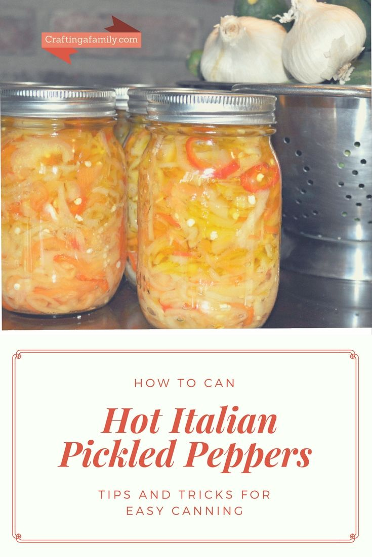 Easy To Follow Steps For Canning Your Own Hot Italian Pickled Peppers  Canning Garden Peppers