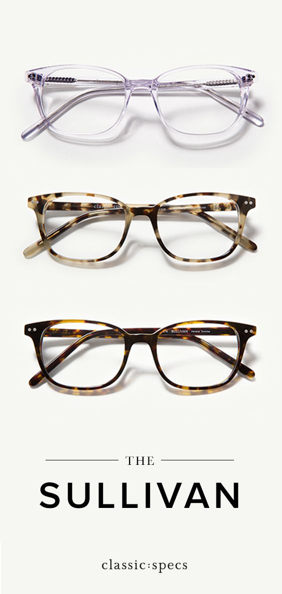1a4cd3d3a0f The Sullivan glasses are a soft rectangle glasses frame for oval and round  face shapes. Features stainless steel hinges and premium acetate reinforced  with ...