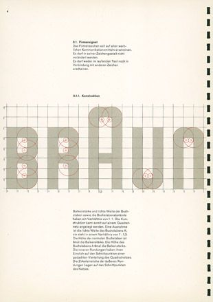 Braun Corporate Manual, Designed by Wolfgang Schmittel, 1958