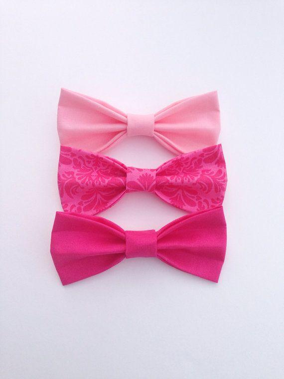 Pink bow tie wedding