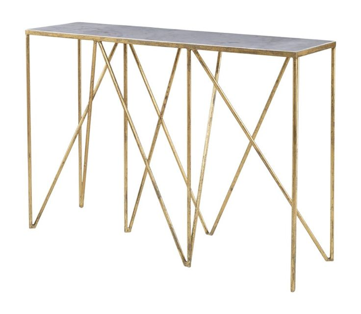 Stromboli Console Table  MidCentury  Modern, Contemporary, Transitional, Metal, Stone, Console Table by Mr Brown London