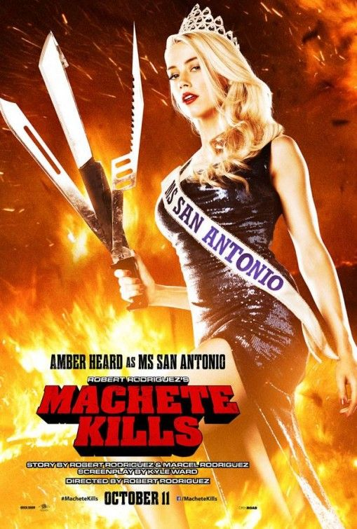 Machete Kills , starring Danny Trejo, Alexa Vega, Mel Gibson, Jessica Alba. The U.S. government recruits Machete to battle his way through Mexico in order to take down an arms dealer who looks to launch a weapon into space. #Action #Crime #Thriller